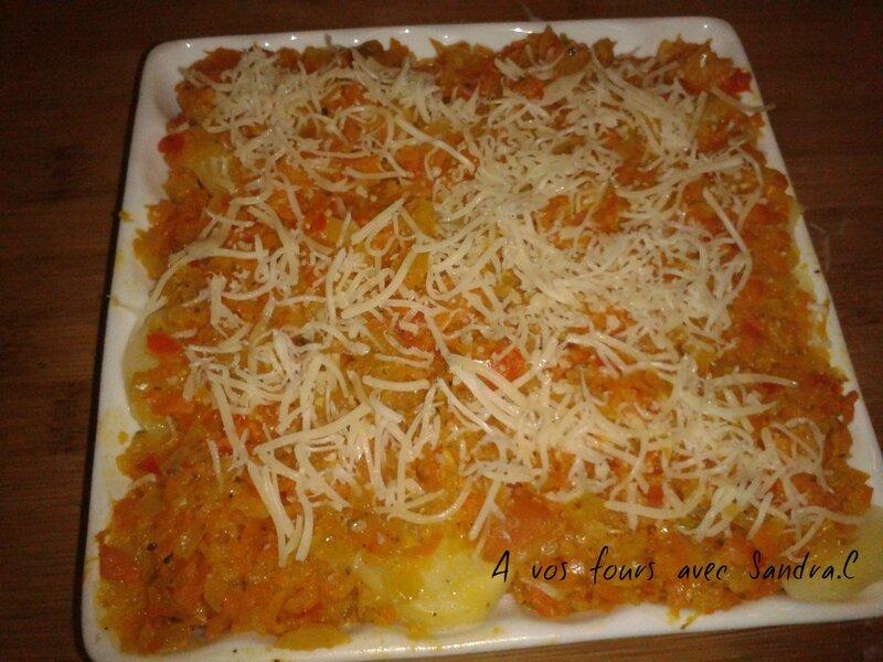 Gratin tomate pomme de terre jambon 7 pp recette pour 1 pers a vos fours avec sandra c - Pomme de terre pour gratin ...