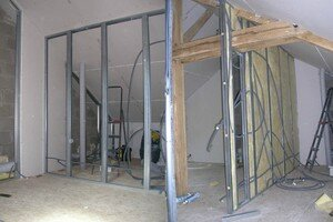 gaine electrique dans cloison placo g nie sanitaire. Black Bedroom Furniture Sets. Home Design Ideas