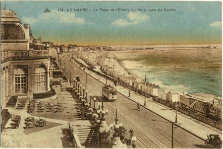76 - LE HAVRE - La plage, l'entrée du port vues du casino