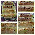 Des courgettes comme des endives: courgettes au jambon et au saumon