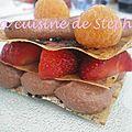 Mille feuille chocolat fraises