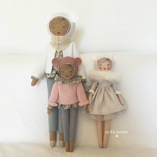 Joséphine Gabrielle et Apolline en hiver