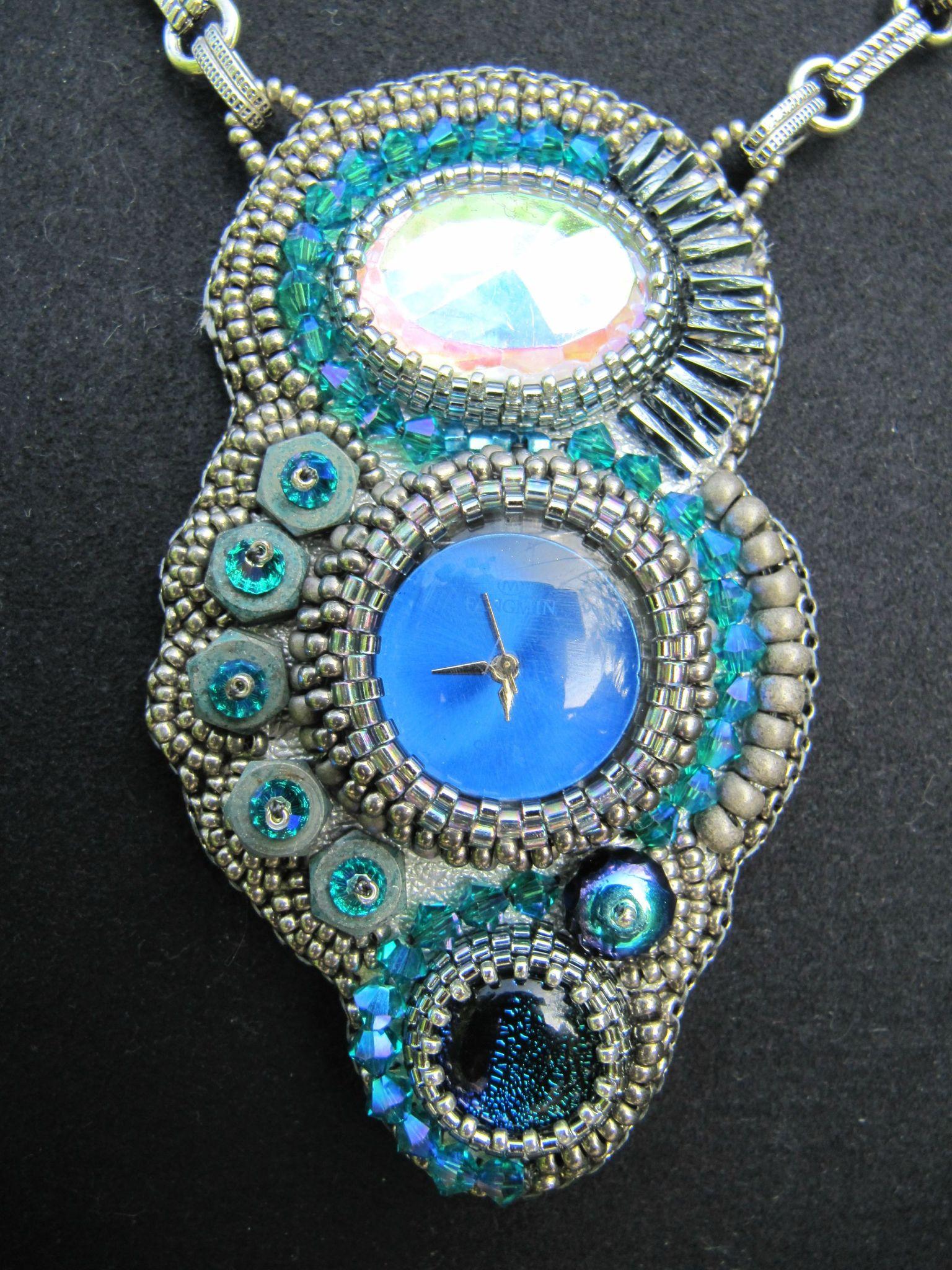 pendentif Temps Modernes bleu turquoise
