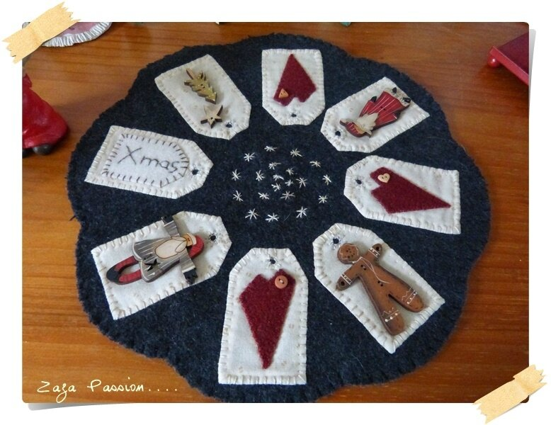 Candle mat Noel 3
