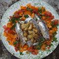 Filets de sardines crus marinés