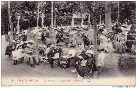 chatel kiosque parc et musique 1900