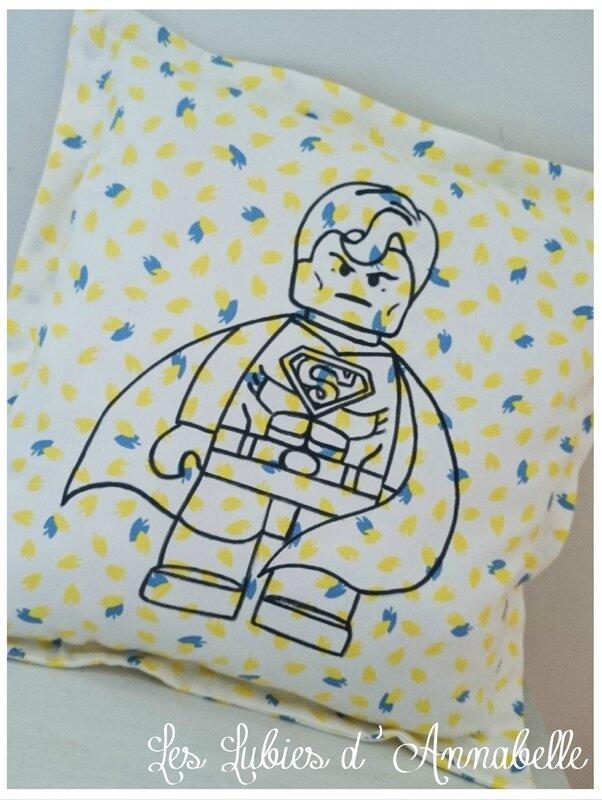 Coussin lego supermen