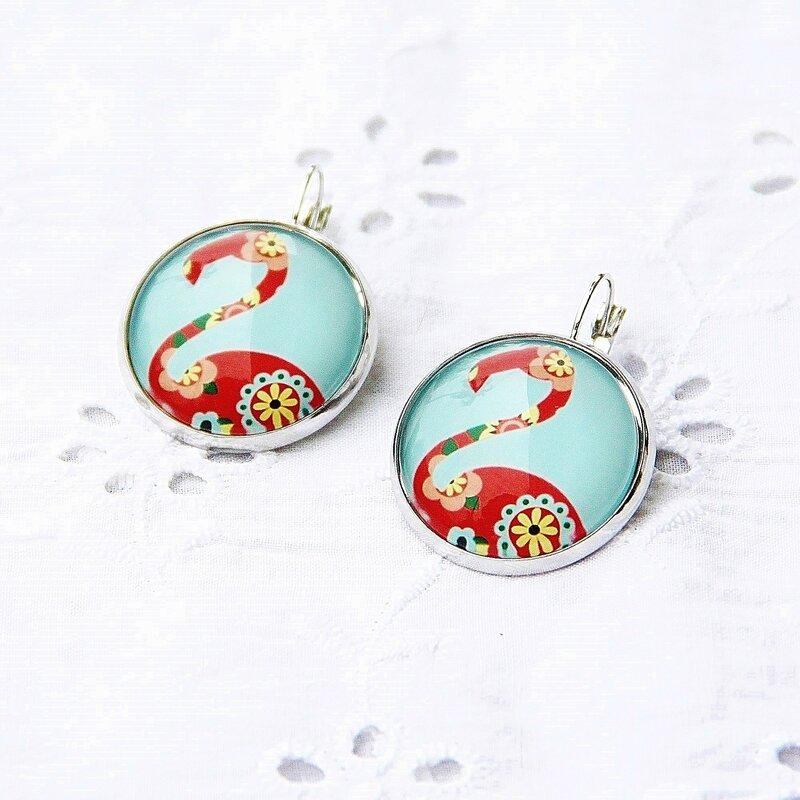 coralie 1 boucles d'oreilles flamand rose fleuri @louiseindigo (7)