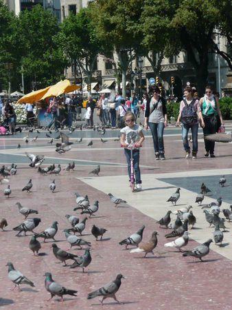 Barcelone, ma fille E., mai 2011