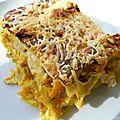 Lasagnes au poulet, carottes & poireaux
