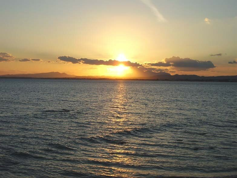 Le coucher de soleil du 7 octobre 2006 (Golfe d'Hammamet)