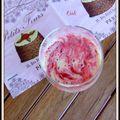 Smoothie marbre pêche fraise - smoothie amoratado durazno fresa