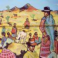 detail fresque sur citerne, humahuaca, argentine