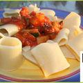 Paccheri tomates courgettes