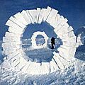 LAND ART_Andy Goldworthy (blocs de glace)