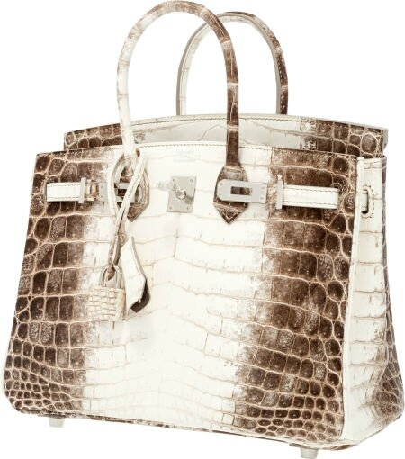 fake hermes bag - Two Hermes \u0026#39;Himalayan\u0026#39; handbags bookend Heritage New York Luxury ...