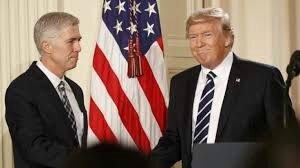 Judge Neil Gorsuch with president Trump