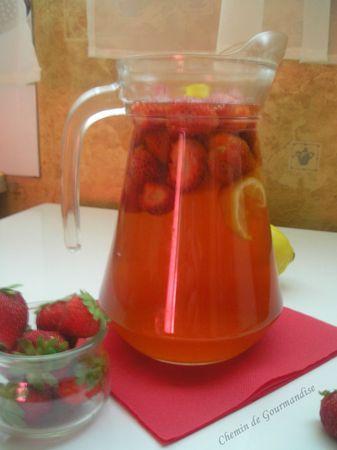 Thé glacé fraise