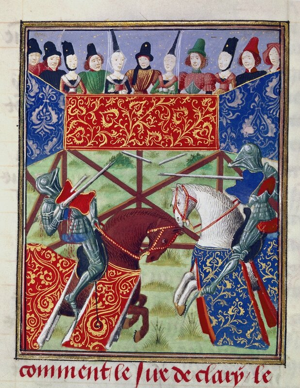 French_knights_jousting_-_Froissart's_Chronicles_(Volume_IV,_part_1)_(1470-1475),_f