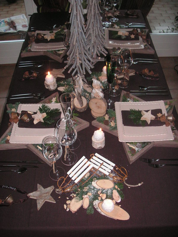 Table no l nature a table c t d co - Table de noel traditionnelle ...