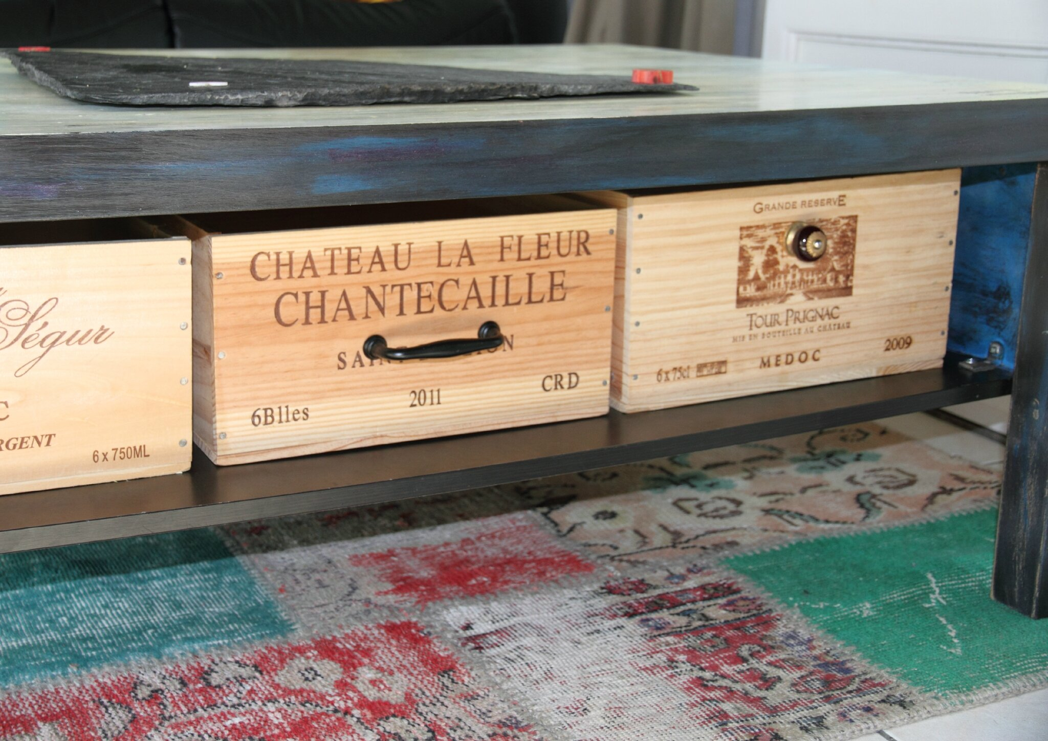 Table Basse 4 Photo De Fabrication Customisation De Meubles  # Table Basse Avec Tele
