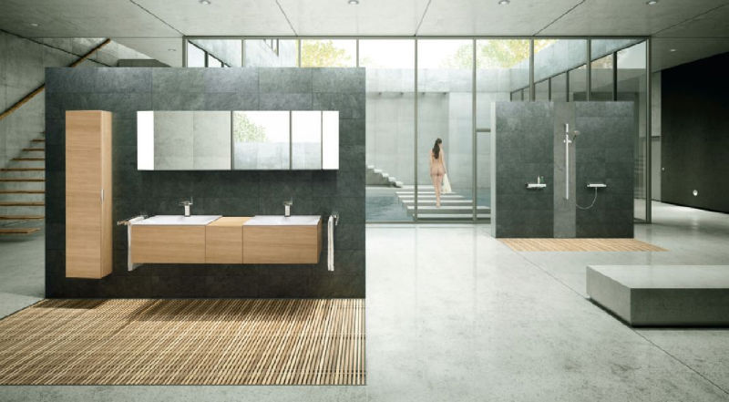Extrêmement Compostion design - salle de bain 10 m2 - Stinside Architecture d  AA99