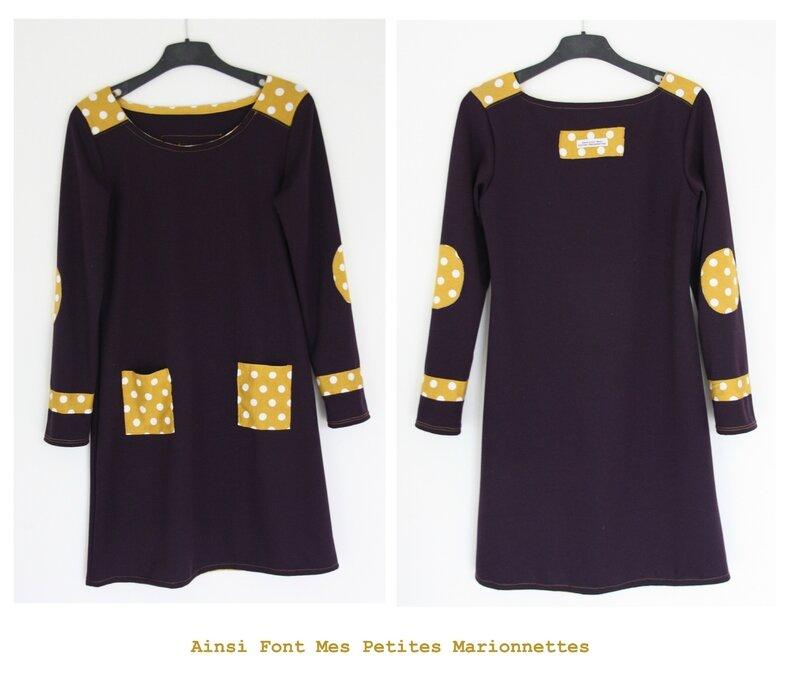 robe violette jaune 2
