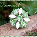 Bague Tournesol péridot et white opal