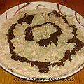 Porridge au lait d'amande et à la poire avec sa sauce au cacao