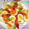 Salade de Printemps à la vinaigrette rouge