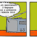 Georges et l'Espagne du football de l'Euro 2012