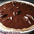 Tarte poire caramel beurre salé et chocolat