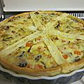 Quiche au curry, lait de coco & légumes