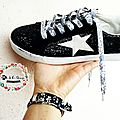 Tutoriel : ma touche de liberty sur mes shoes........... mes lacets