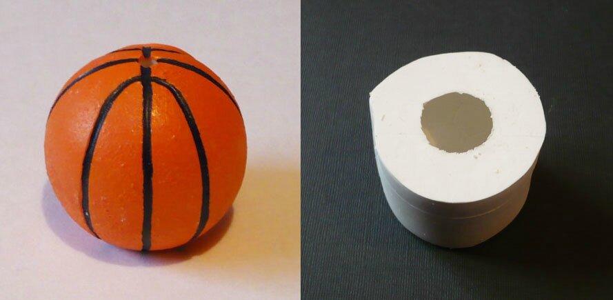 moule en silicone ballon de basket