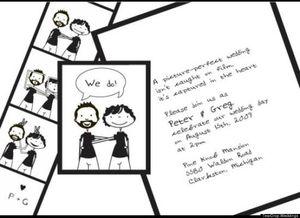 invitation mariage gay