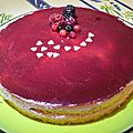 Entremet fruits rouges