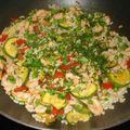 Riz creole aux crevettes et petits legumes