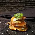Millefeuille de pommes de terre au saumon fumé