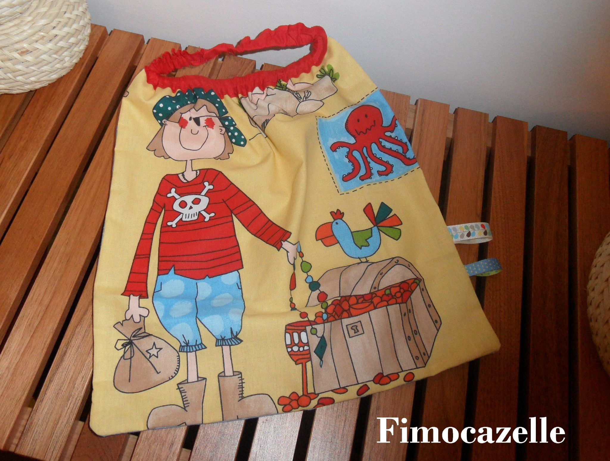 serviette petit pirate