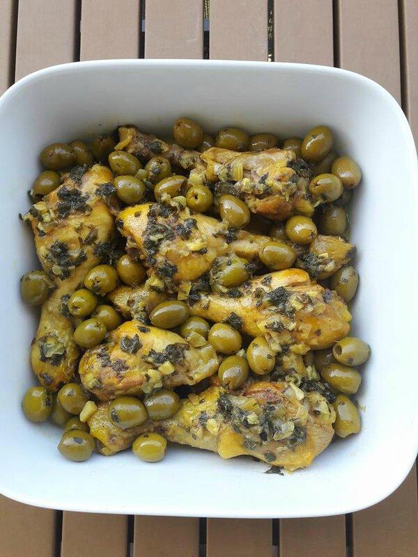 ajine poulet olive