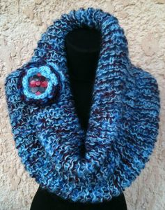 snood bleu 3