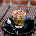 Crumble pomme gingembre chocolat