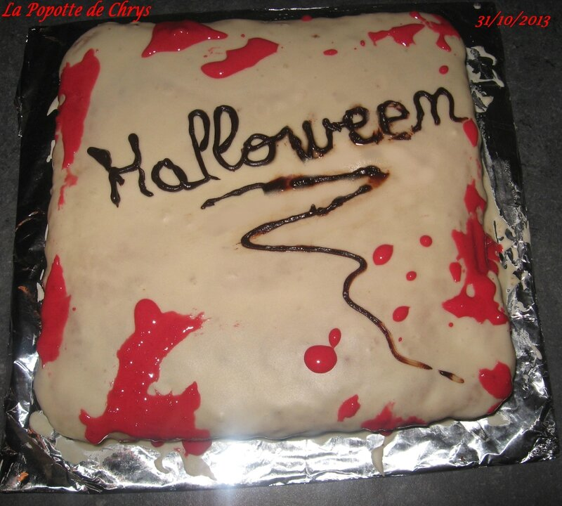 Gateau aux yaourts Halloween