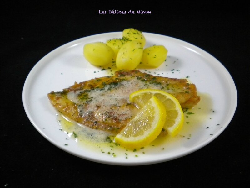 Filets de sole meunière