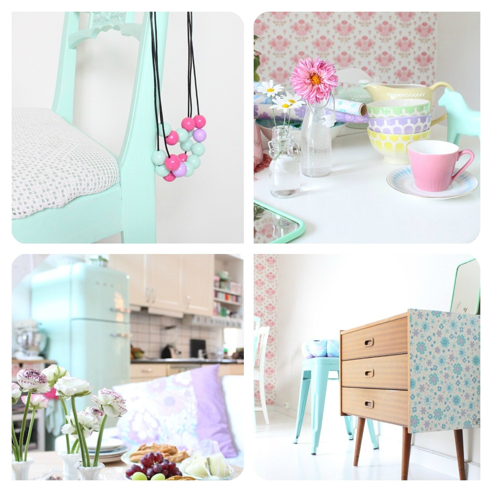deco pastel vintage ustensiles de cuisine. Black Bedroom Furniture Sets. Home Design Ideas