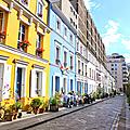 Ballade colorée rue crémieux