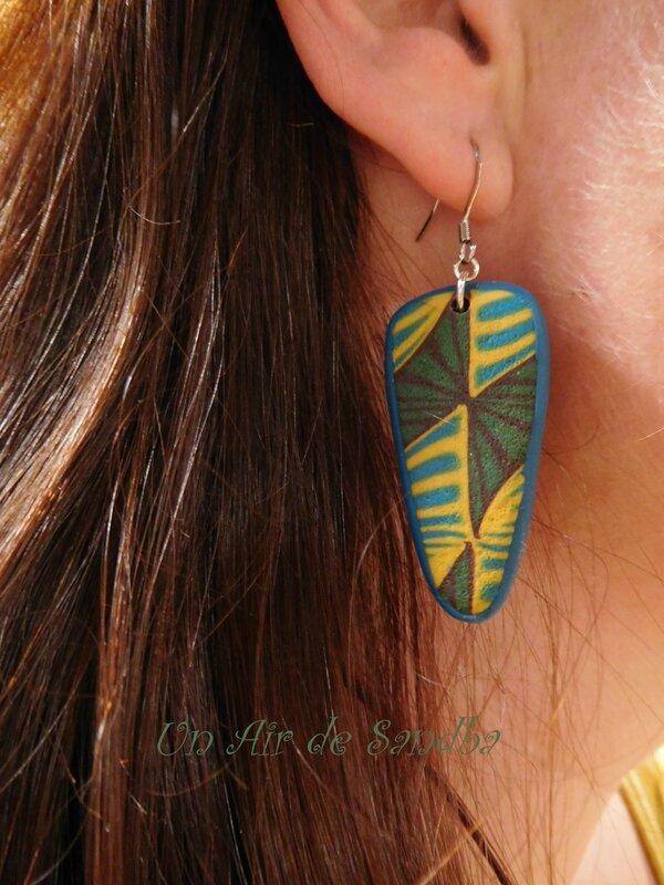 Boucles d'oreilles Wax Kaki (4)