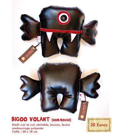 Bigoo Volant (simili cuir, rouge et noir)