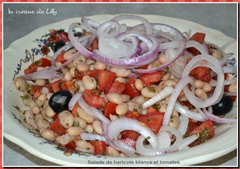 salade de haricots et tomates
